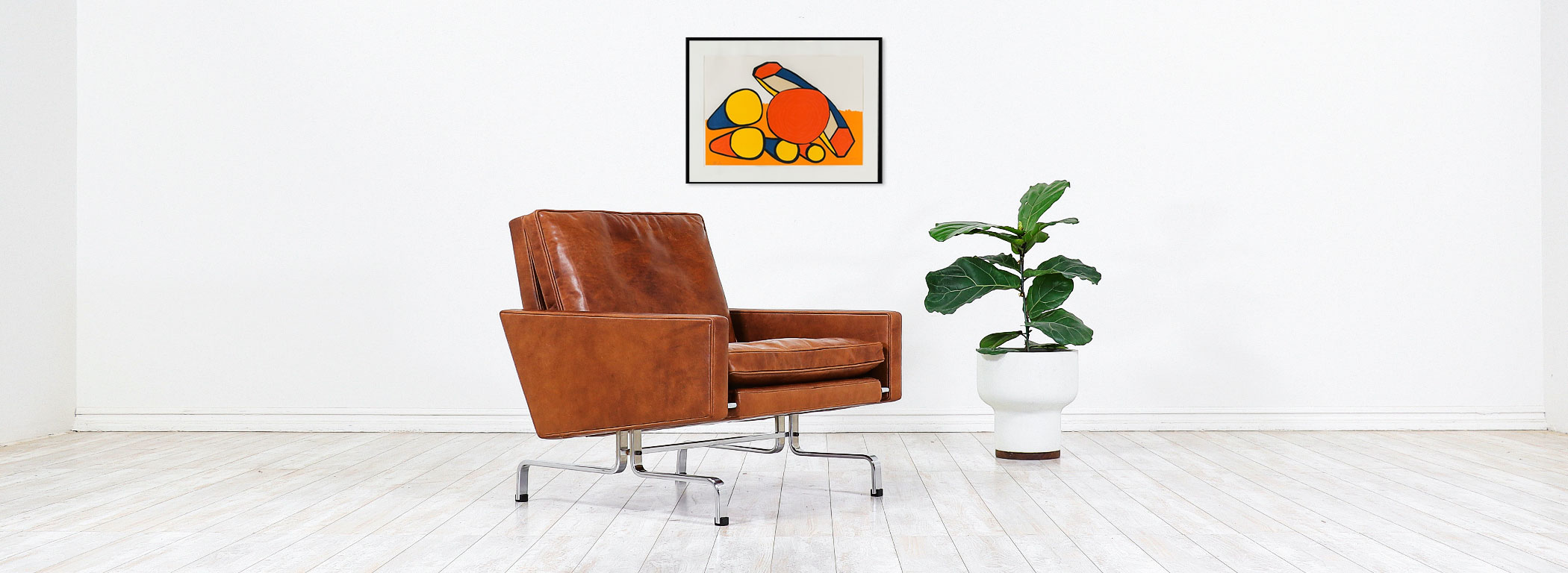 Poul Kjaerholm PK-31 Leather Lounge Chair for E. Kold Christensen  Image