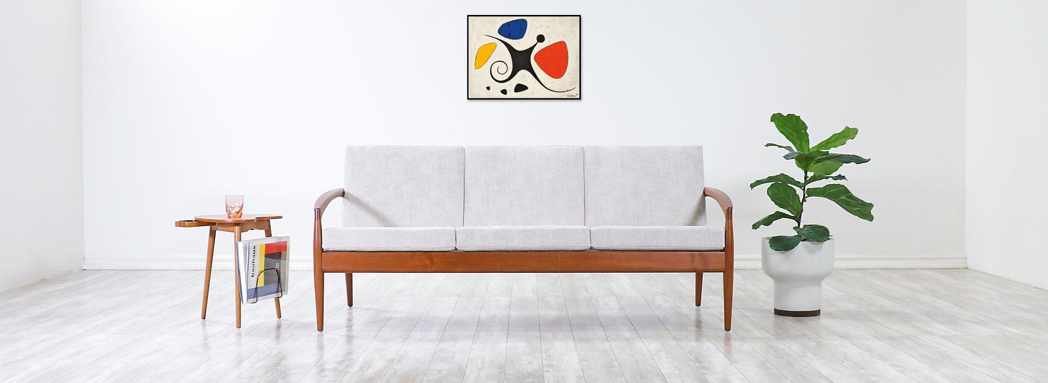 """Kai Kristiansen """"Paper Knife"""" Teak Sofa for Magnus Olesen  Image"""