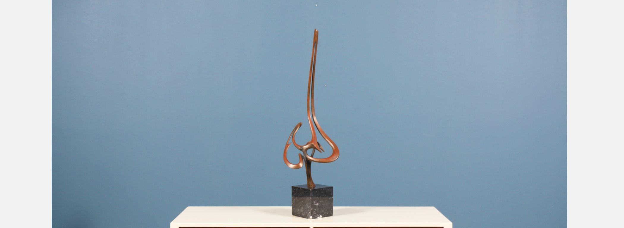 Bob Bennett Bronze Abstract Sculpture  Image