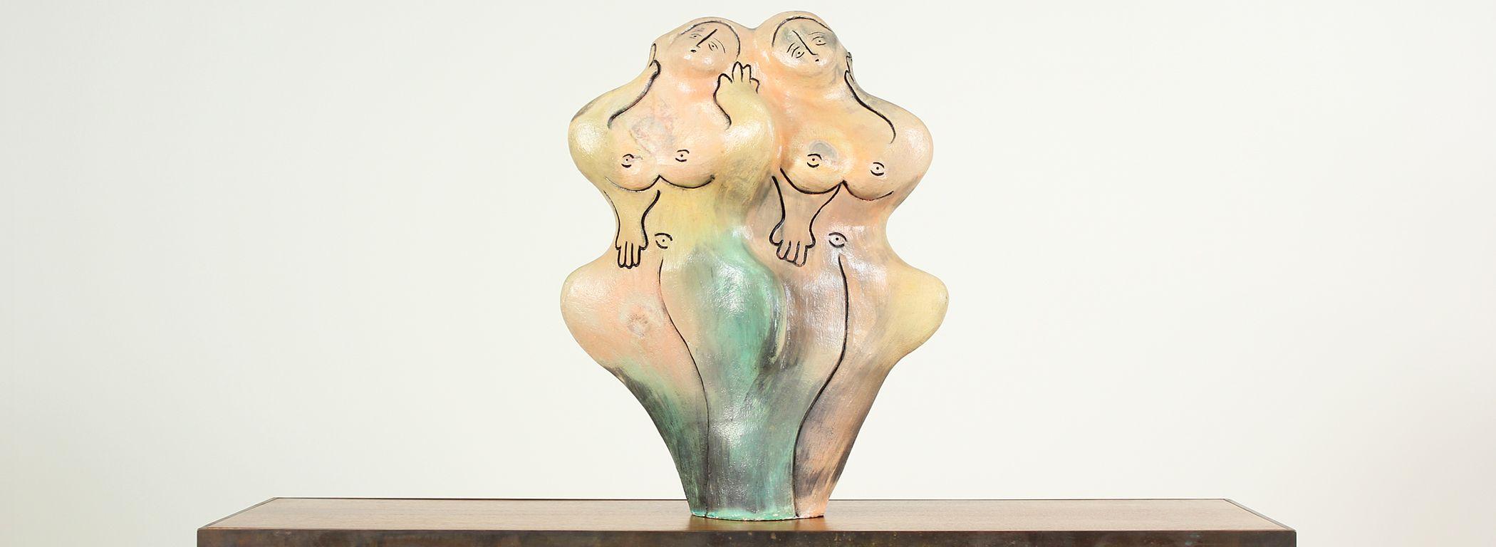 Mid-Century Ceramic Nude Women Sculpture Image